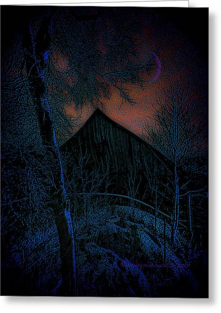 Haunted Barn Greeting Cards - 004 Greeting Card by Mimulux patricia no