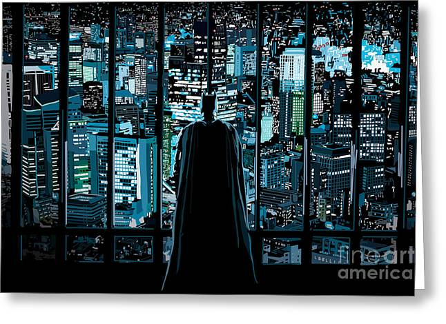 Batman Greeting Cards - 004. Ready To Believe In Good Greeting Card by Tam Hazlewood