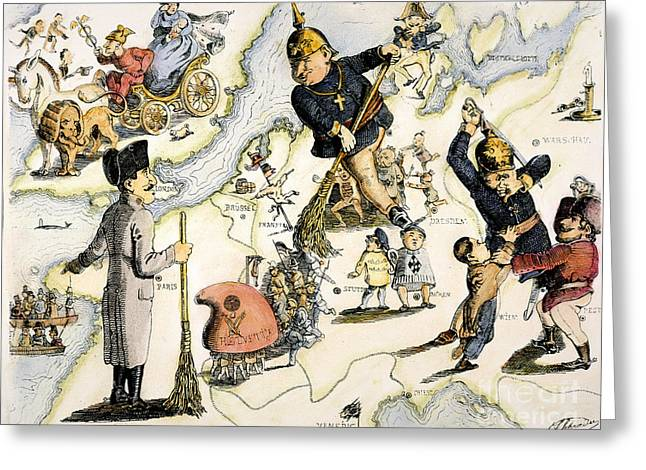 Repression Greeting Cards - Europe: 1848 Uprisings Greeting Card by Granger