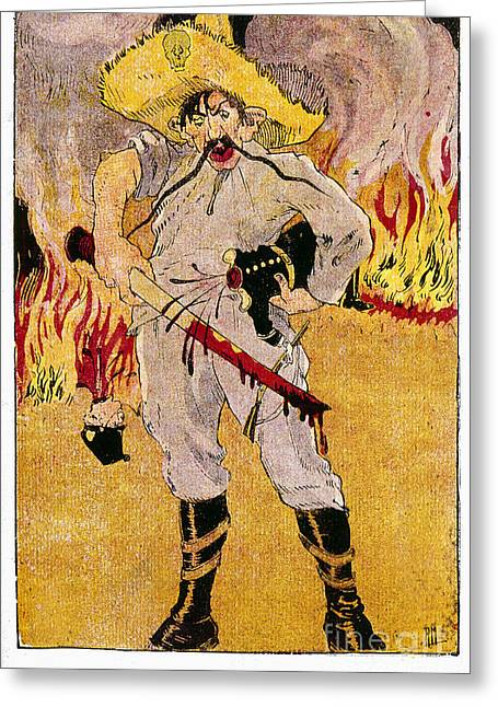 Mexican Revolution Greeting Cards - Mexico: Political Cartoon Greeting Card by Granger