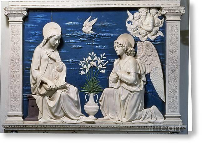 Della Robbia: Annunciation Greeting Card by Granger