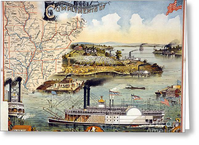 Mississippi Steamboat Greeting Card by Granger