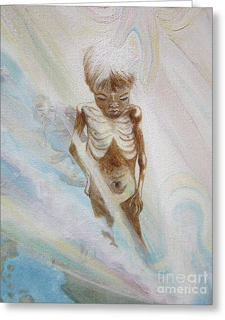 Little Boy Greeting Cards - 015a 57boy13 Hand of Mercy  Greeting Card by Sigrid Tune
