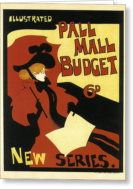 Pall Mall Budget Greeting Card by Maurice Greiffenhagen