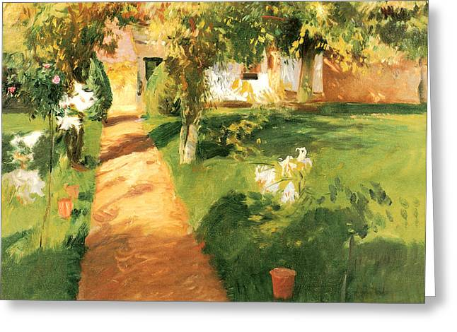 Gravel Road Paintings Greeting Cards - Millets Garden Greeting Card by John Singer Sargent
