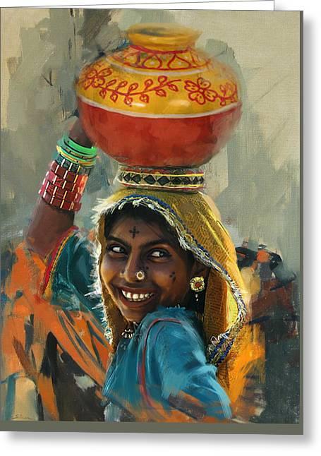028 Sindh Greeting Card by Mahnoor Shah