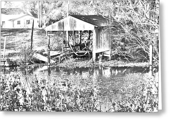 Shed Digital Art Greeting Cards - 03192015 Boat Shed Lafourch Parish Greeting Card by Garland Oldham