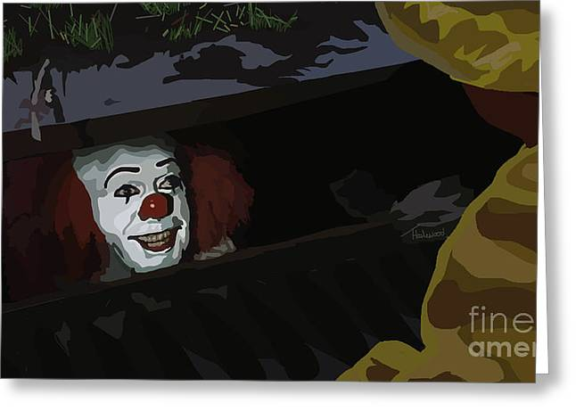 Horror Film Greeting Cards - 036. They All Float Down Here Greeting Card by Tam Hazlewood