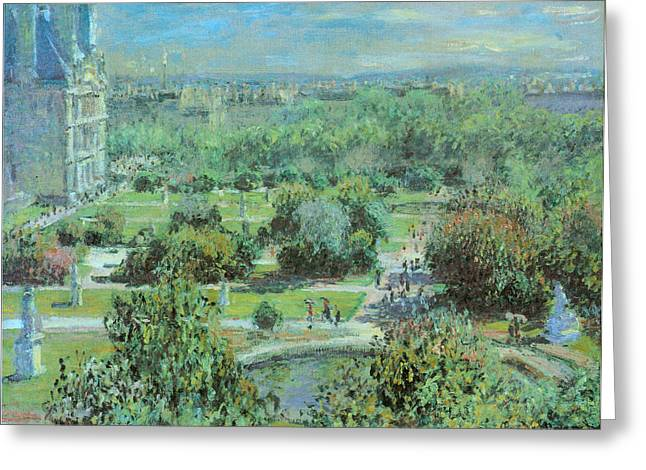 Tuileries Greeting Cards - Tuileries Gardens Greeting Card by Claude Monet