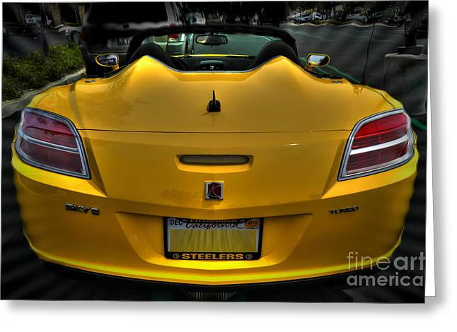 Saturn Greeting Cards - 05 Saturn Sky Greeting Card by Frank Garciarubio