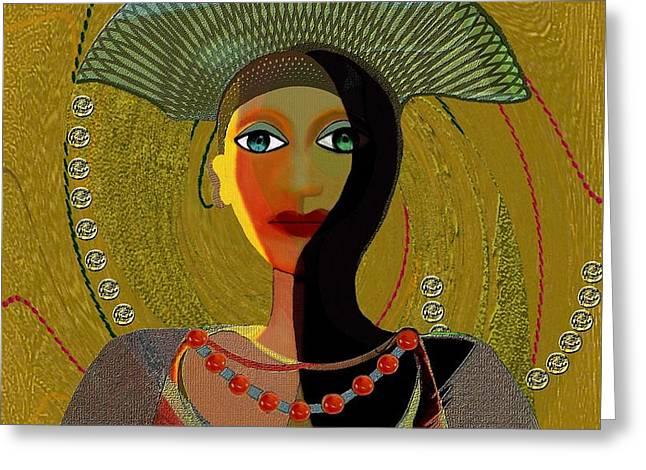Nana Greeting Cards - 052 -   Nana Golden Greeting Card by Irmgard Schoendorf Welch