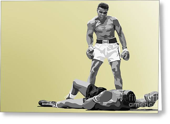 Mohammed Ali Greeting Cards - 059. Float Like A Butterfly Greeting Card by Tam Hazlewood