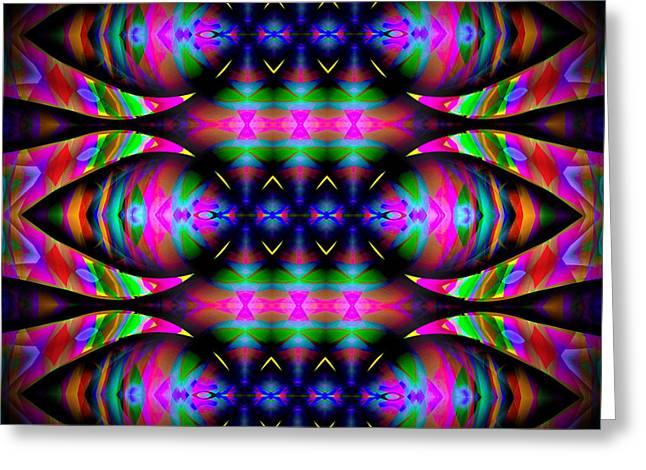 Abstract Digital Digital Art Greeting Cards - #0627201523 Greeting Card by Visual Artist  Frank Bonilla