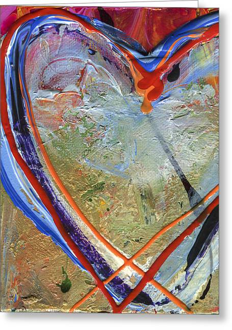 Abstract Shapes Greeting Cards - 07 of Hearts, Heartache Series Greeting Card by Elizabeth Greene