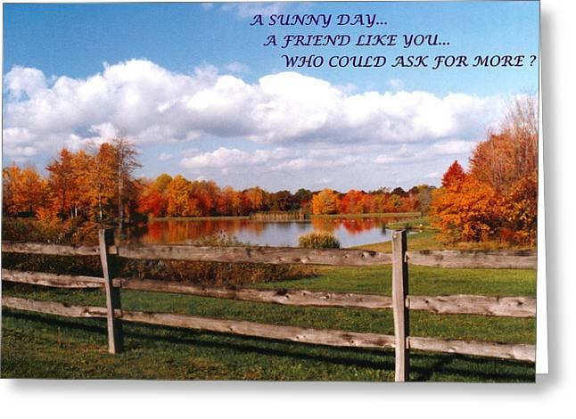 Mike Davis - Micks Pix Photos Greeting Cards - 070506-44a  Friendship Card Greeting Card by Mike Davis - Micks Pix Photos