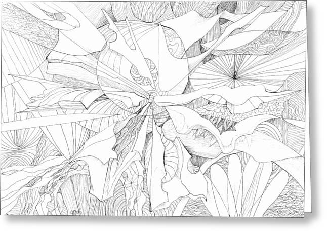 Organic Drawings Greeting Cards - 0910-10 Greeting Card by Charles Cater