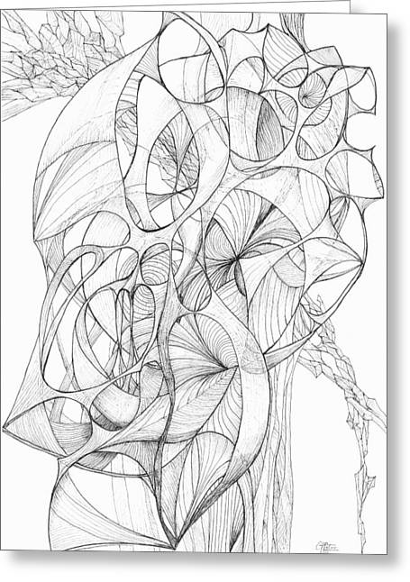 Organic Drawings Greeting Cards - 0910-5 Greeting Card by Charles Cater