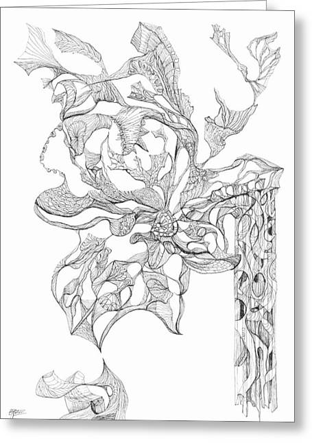 Organic Drawings Greeting Cards - 0910-6 Greeting Card by Charles Cater