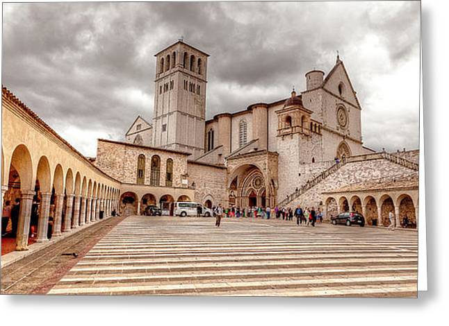 Francis Greeting Cards - 0955 Assisi Italy Greeting Card by Steve Sturgill