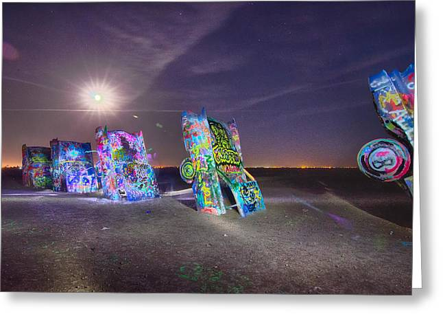 Installation Art Greeting Cards -  Famous art installation Cadillac Ranch Greeting Card by Alexandr Grichenko
