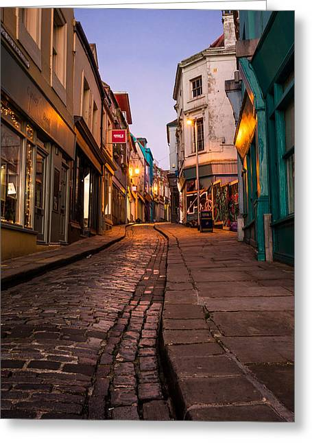 High Street Greeting Cards -  Folkestone Greeting Card by Ian Hufton