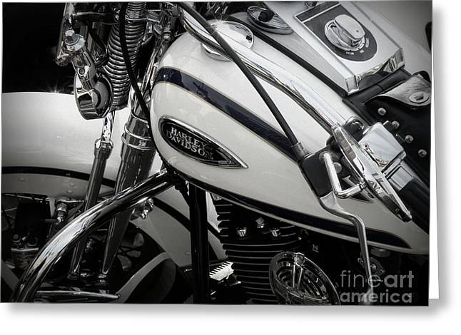 1 - Harley Davidson Series  Greeting Card by Lainie Wrightson