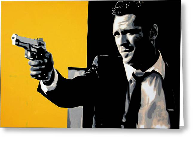 Reservoir Dogs Greeting Cards - - Mr Blonde - Greeting Card by Luis Ludzska