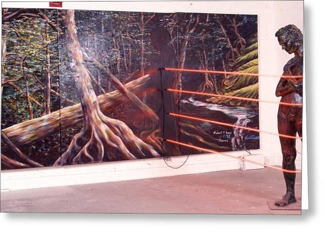 ist Sculptures Greeting Cards -  Sin Loi Desidaario Greeting Card by Robert Buono