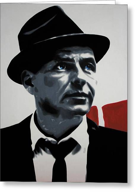 Ludzska Greeting Cards - - Sinatra - Greeting Card by Luis Ludzska