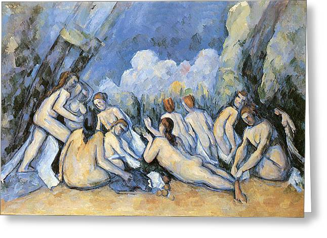 Seascape Greeting Cards - Bathers Greeting Card by Paul Cezanne