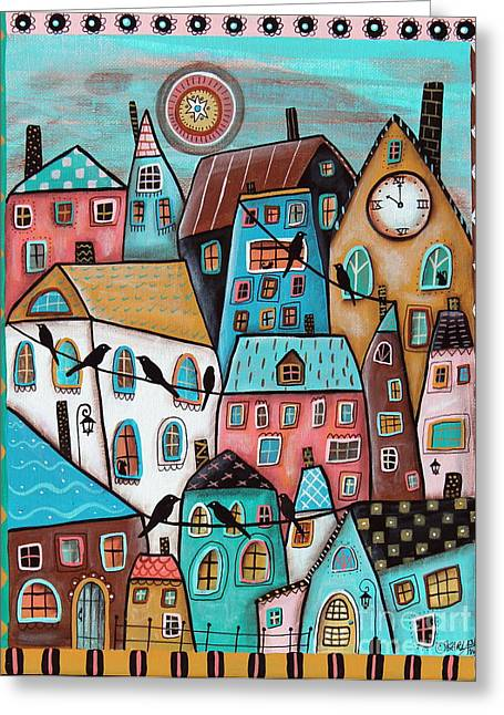 Clock Greeting Cards - 10 OClock Greeting Card by Karla Gerard