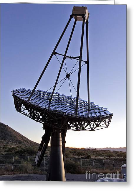 Gamma Rays Greeting Cards - 12m Gamma-ray Reflector Telescope Greeting Card by Inga Spence