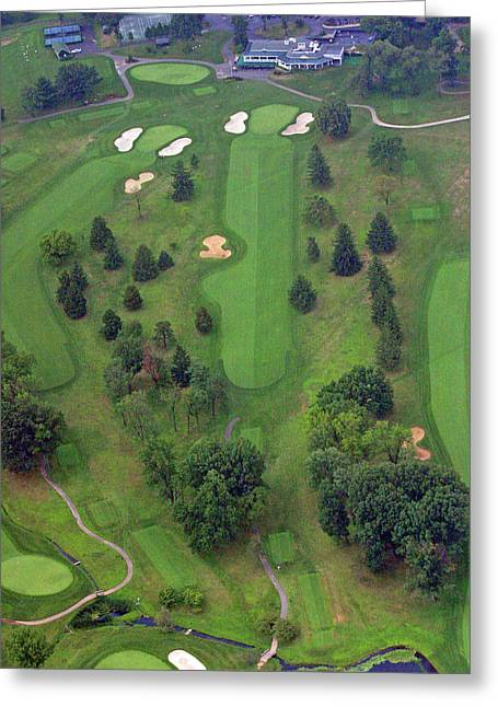 Plymouth Meeting Aerials Greeting Cards - 18th Hole Sunnybrook Golf Club Greeting Card by Duncan Pearson