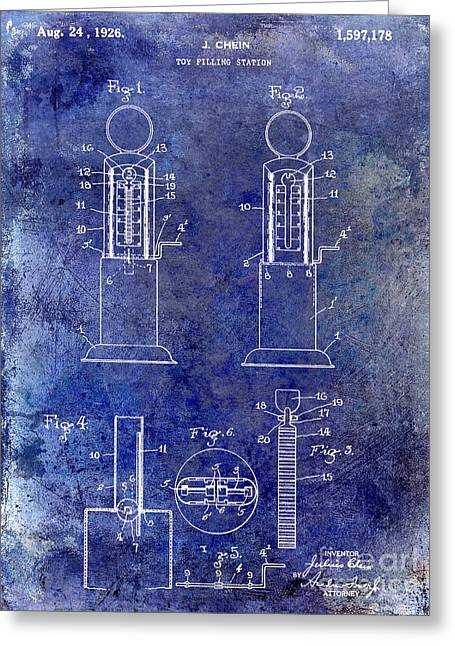 Toys Greeting Cards - 1926 Toy Filling Station Patent Greeting Card by Jon Neidert