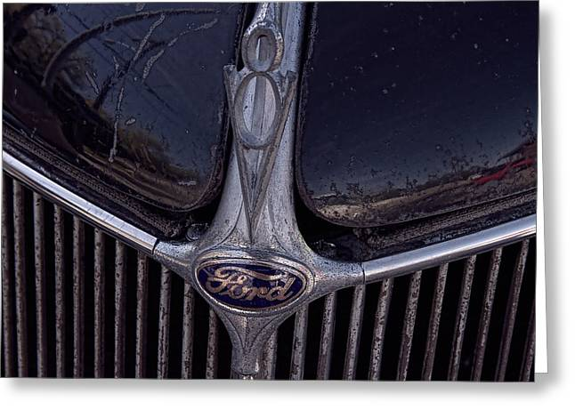 Collector Hood Ornament Greeting Cards - 1936 Ford Hood Ornament Greeting Card by Nick Gray