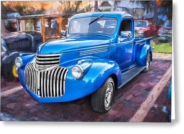 Pickup Truck Door Greeting Cards - 1938 Chevrolet Pick Up Truck Painted  Greeting Card by Rich Franco