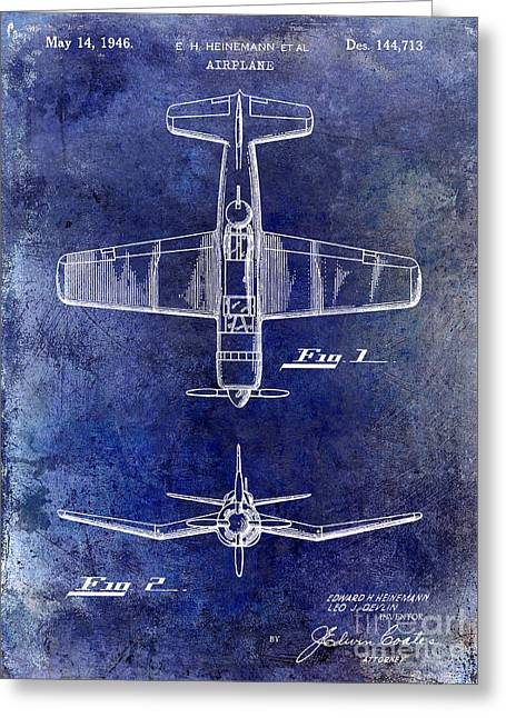 Cargo Greeting Cards - 1946 Airplane Patent Greeting Card by Jon Neidert