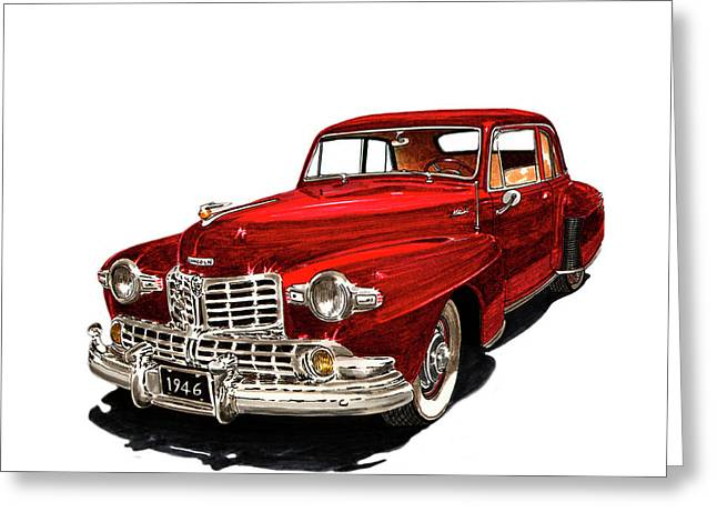 Car Framed Prints Greeting Cards - 1946 Lincoln Continental MK I Greeting Card by Jack Pumphrey