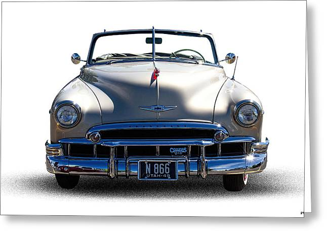 Chev Deluxe Greeting Cards - 1949 Chevrolet Convertible Greeting Card by Nick Gray