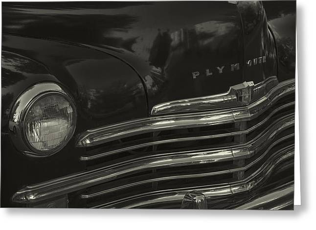 1949 Plymouth Deluxe  Greeting Card by Cathy Anderson