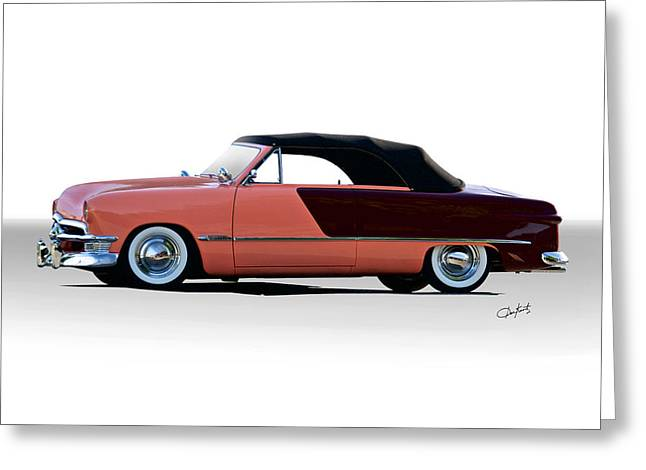 Slam Greeting Cards - 1950 Ford Custom Convertible Greeting Card by Dave Koontz