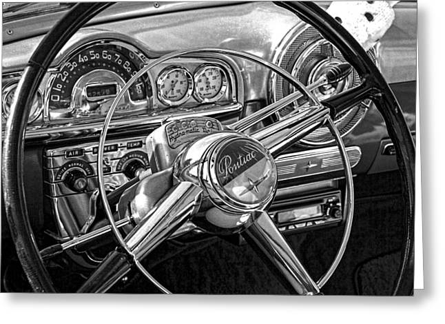 Starfire Photographs Greeting Cards - 1950 Pontiac Starfire Dashboard Greeting Card by Nick Gray