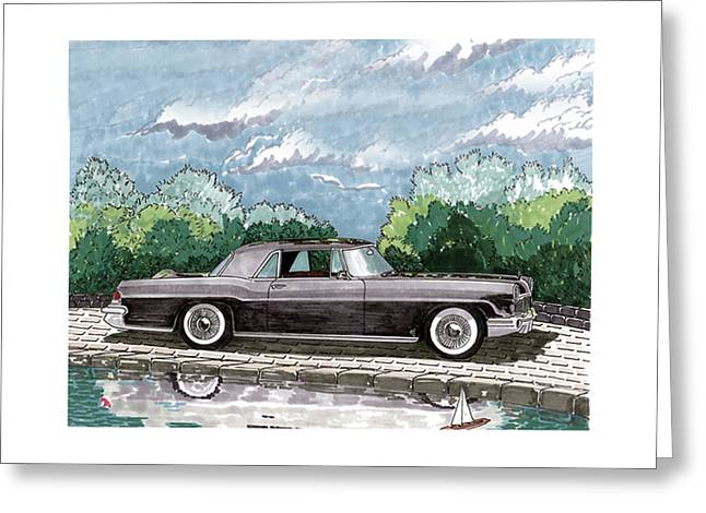 Car Framed Prints Greeting Cards - 1956  Lincoln Continental MK II Greeting Card by Jack Pumphrey