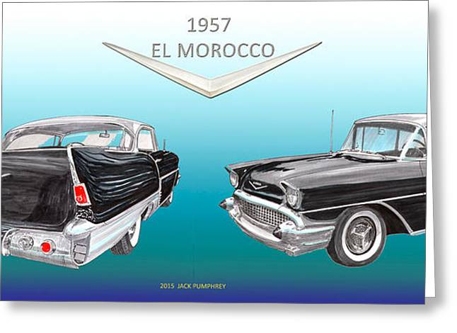 1957 Chevrolet El Morocco Hard Top Greeting Card by Jack Pumphrey