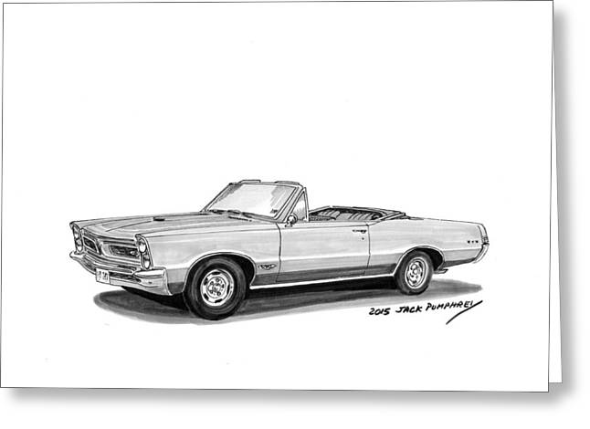 Art Of Muscle Greeting Cards - 1965 Pontiac G T O Convertible Greeting Card by Jack Pumphrey