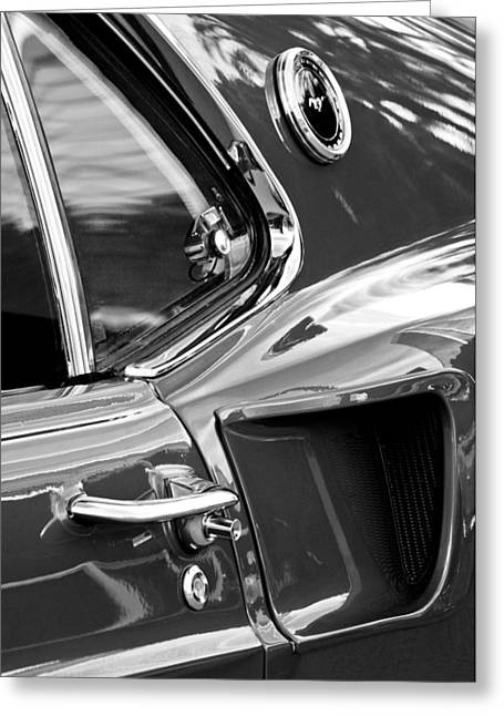 Scoop Greeting Cards - 1969 Ford Mustang Mach 1 Side Scoop Greeting Card by Jill Reger