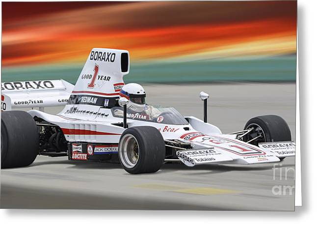 Indy Car Greeting Cards - 1976 Lola T332 F5000 INDy Race Car Greeting Card by Tad Gage