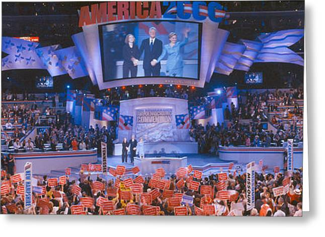 Flag Of Usa Greeting Cards - 2000 Democratic National Convention Greeting Card by Panoramic Images
