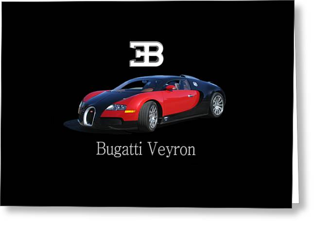 Recently Sold -  - Shower Curtain Greeting Cards - 2010 Bugatti Veyron Greeting Card by Jack Pumphrey