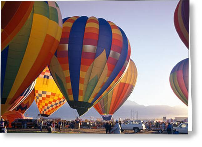 Balloon Fiesta Greeting Cards - 25th Albuquerque International Balloon Greeting Card by Panoramic Images